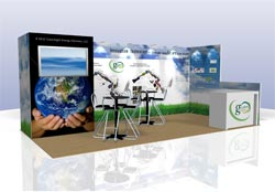 green trade show displays Atlanta